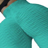 Sexy Women's  Ruched Textured Workout Butt Lift Yoga Pants