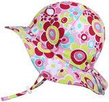 Toddler Sun Hat, GRO-with-Me Adjustable Straps, 50+UPF Natural Cotton Protection