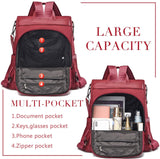 Anti Theft Rucksack Nylon Waterproof Daypack Lightweight Shoulder Bags