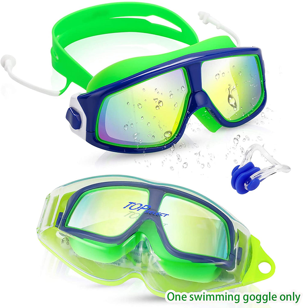 Kids Swimming Goggles Child (Age 3-12) Waterproof Swim Goggles W Clear Vision Anti Fog UV Protection