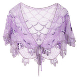 Women's 1920s Shawl Beaded Evening Wraps Flapper Bolero  flapper beaded shawl