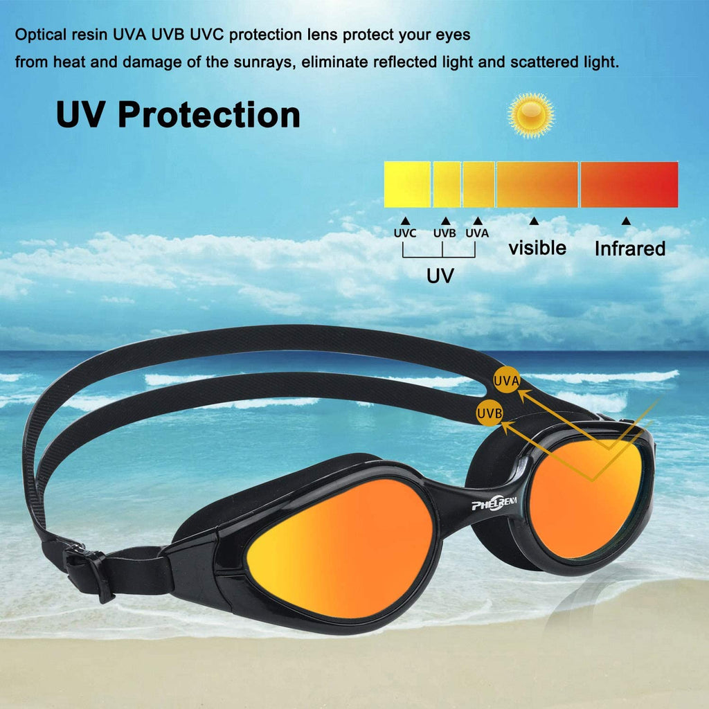 Electroplated Swimming Goggles, Anti Fog,No Leaking,UV Protection,Shatter-Proof, Clear Wide Vision Triathlon Swim Goggles