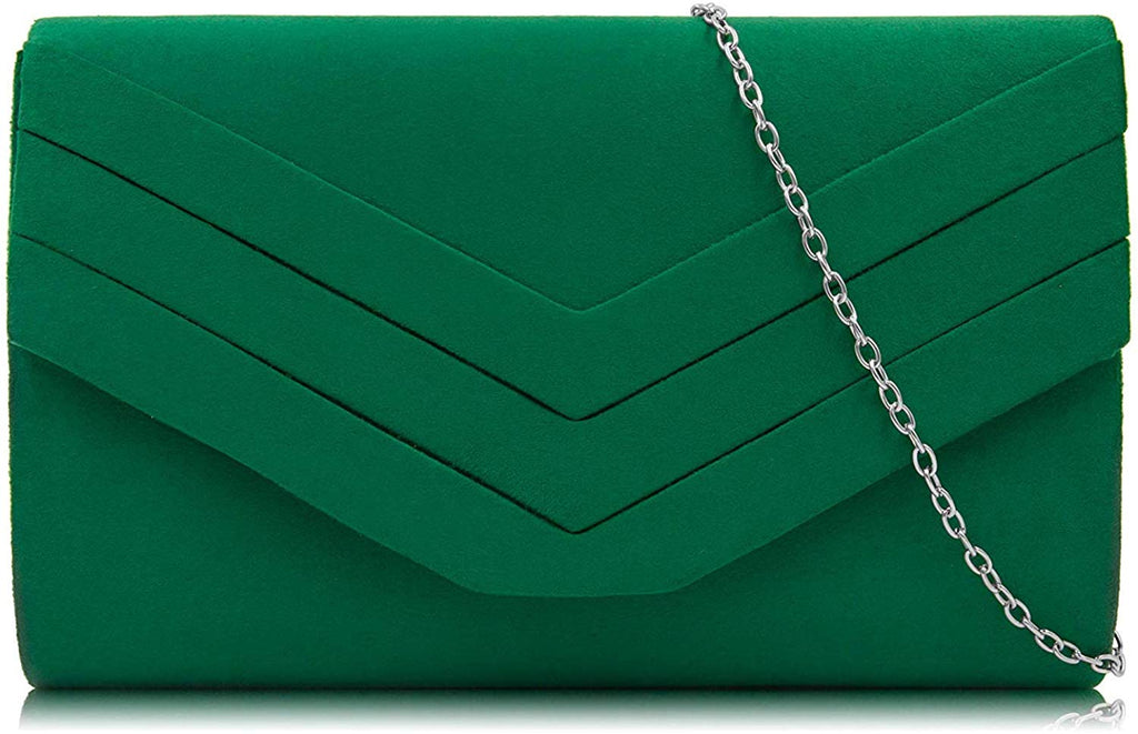 Suede Envelope Evening Purses Crossbody Shoulder Clutch Bag