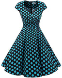 Women Short 1950s Dress Retro Vintage Cocktail Party Swing Dresses