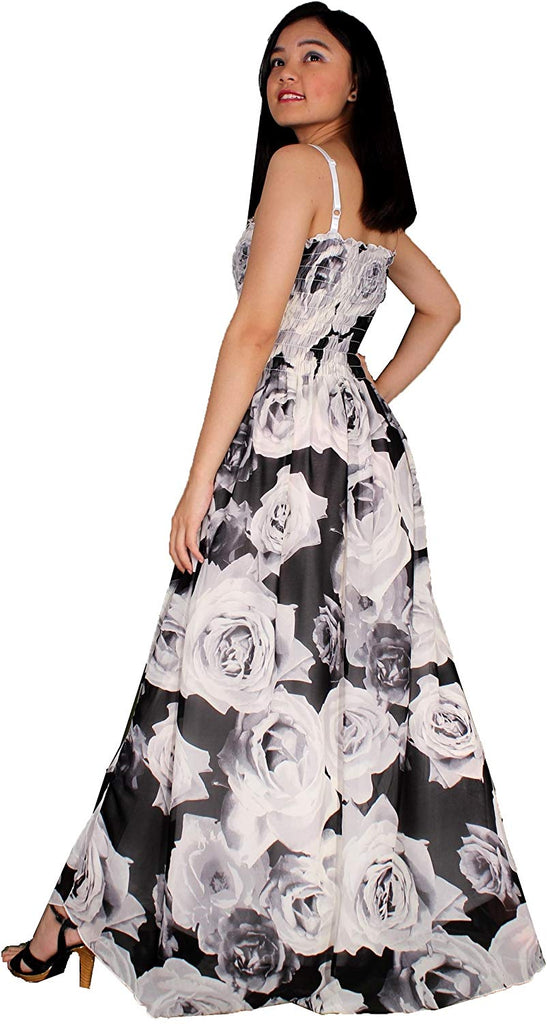 Maxi Dress Plus Size Clothing Black Ball Gala Party Sundress Evening Long Floral Women