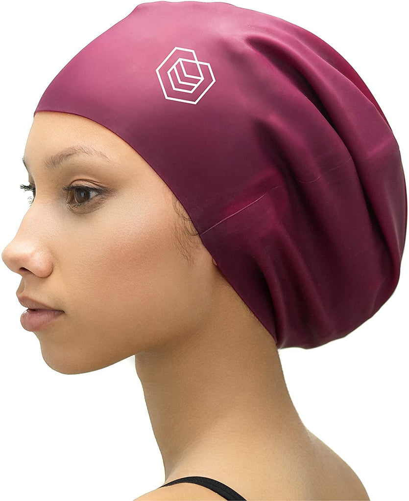 Extra Large Swimming Cap - Designed for Long Hair, Dreadlocks, Weaves, Hair Extensions, Braids, Curls & Afros