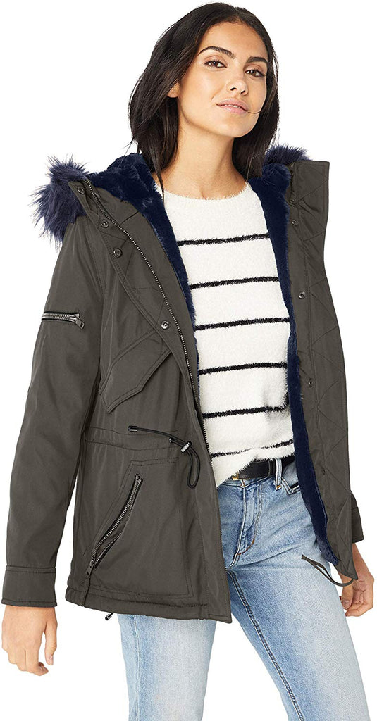 Women's Luxe Mini Canyon Lined Parka with Faux Fur Hood