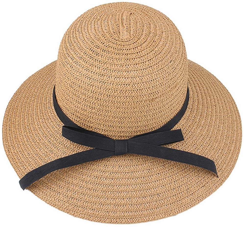 Women Ladies Straw Sun Visor Hat Wide Brim Foldable Summer Beach Cap