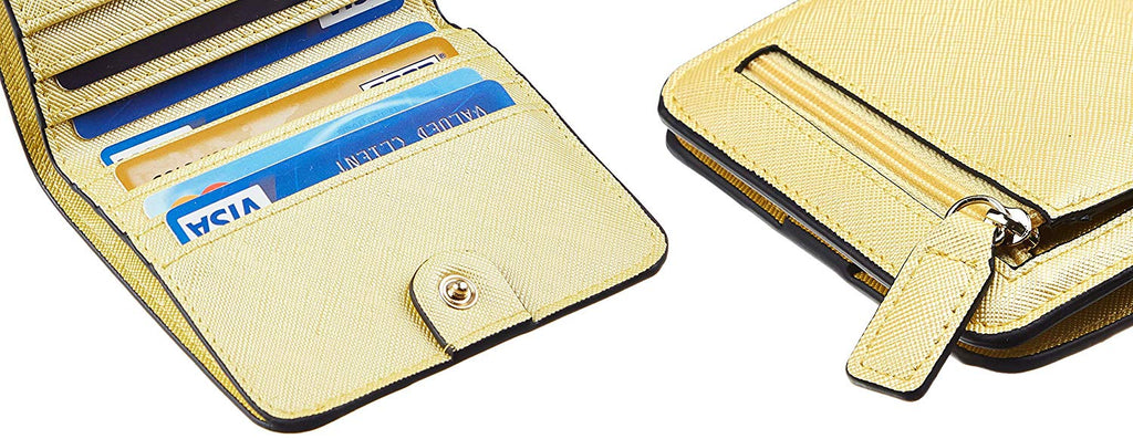 Rfid Blocking Small Compact Bifold Luxury Genuine Leather Pocket Wallet