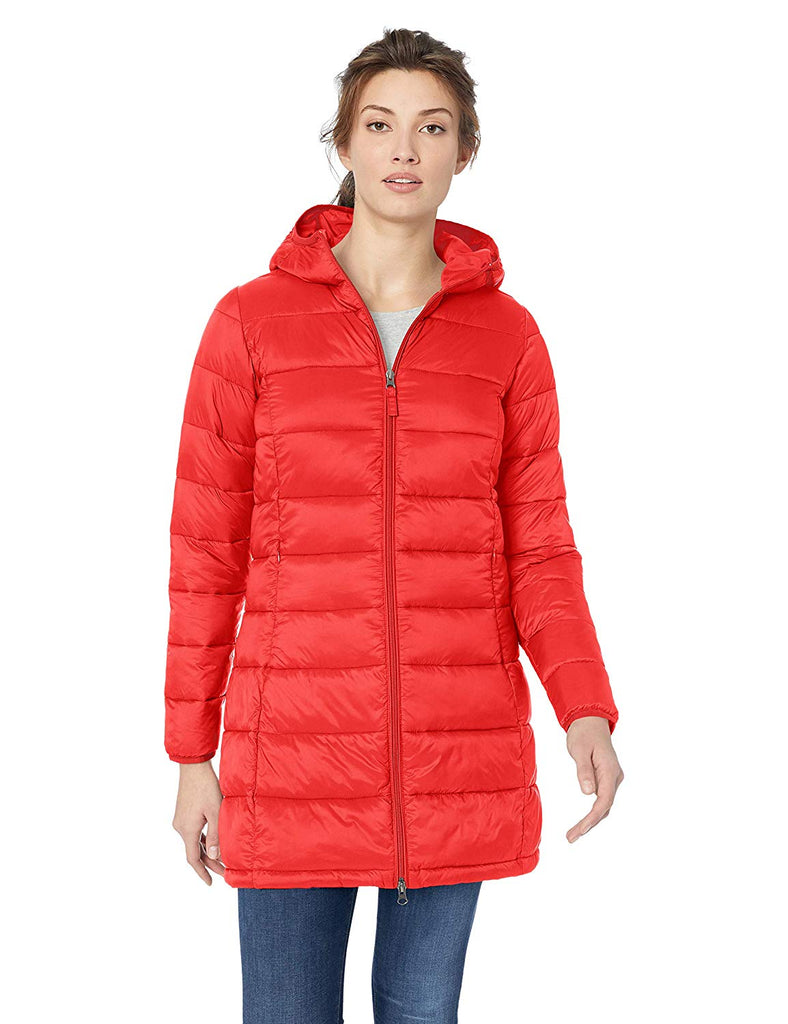 Essentials Women's Lightweight Water-Resistant Packable Puffer Coat