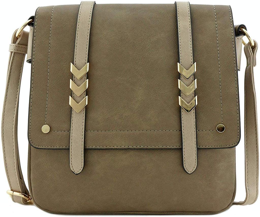 Compartment Large Flapover Crossbody Bag