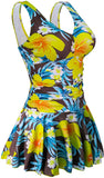 Tummy Control Swimwear Bathing Suits Women's One Piece Plus Size Swimsuits