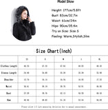 Women's Hooded Thickened Long Down Jacket Maxi Down Parka Puffer Coat