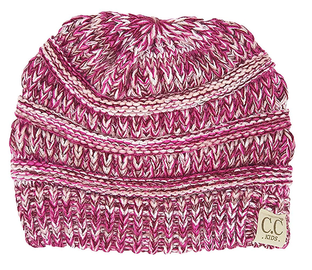 Funky Junque Kids Baby Toddler Ribbed Knit Children's Winter Hat Beanie Cap
