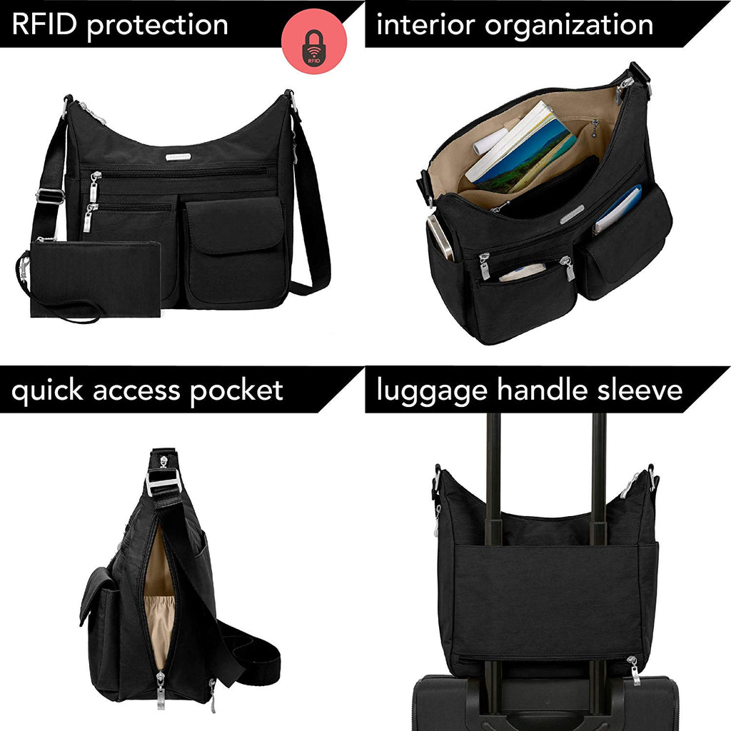 Everywhere bagg with RFID Crinkle nylon protected phone