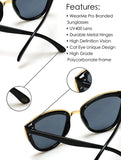 Womens Cat Eye Mirrored Reflective Lenses Oversized Cateyes Sunglasses