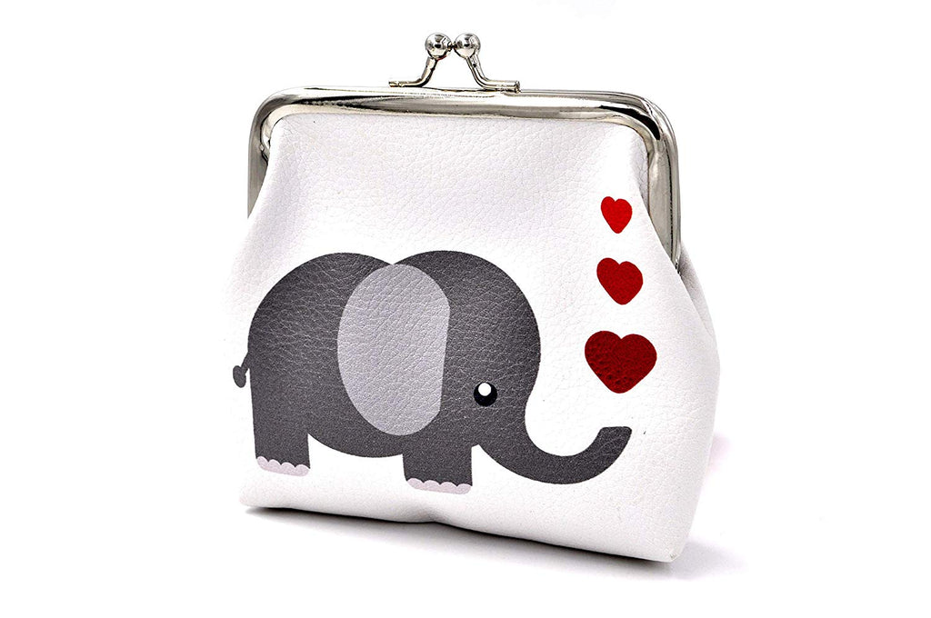 Pu Leather Coin Purse Cute Animal Wallet Bag Change Pouch Gifts for Women Kids Girls Key Holder