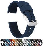 Watch Bands - Elite Silicone Watch Straps - Quick Release  Textured Rubber Watch Straps