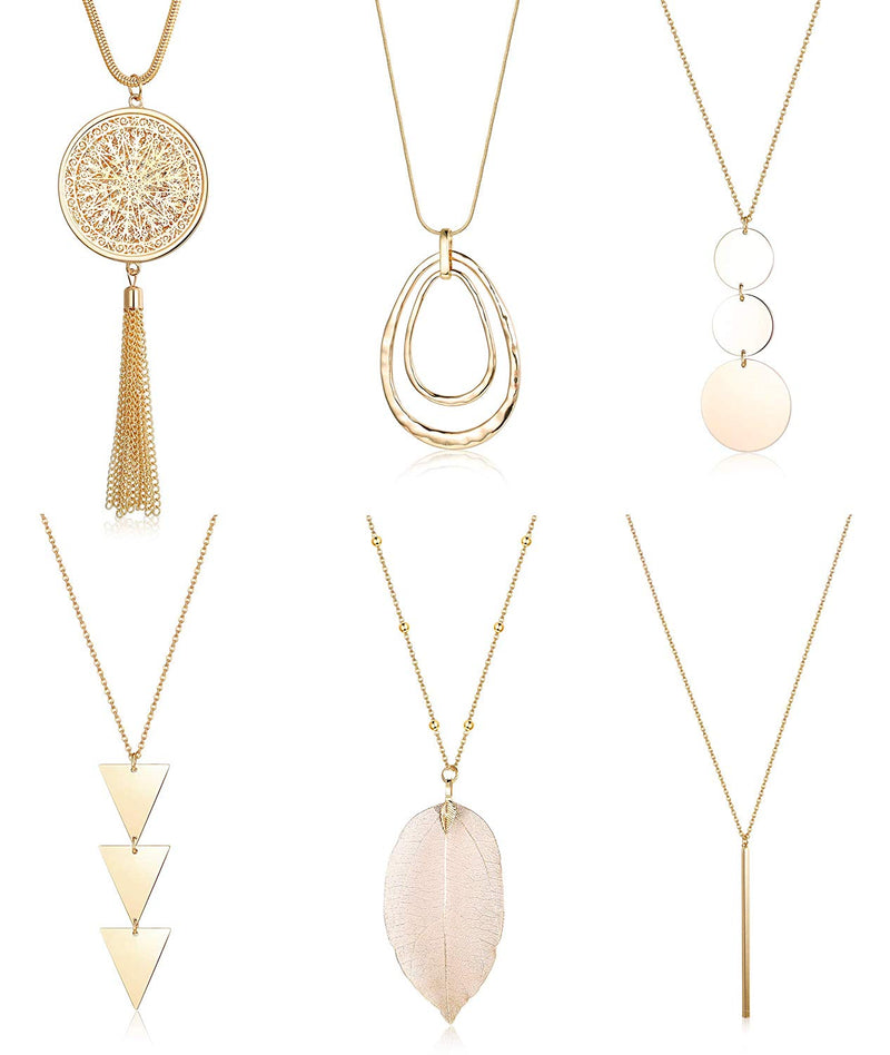 Long Rose Gold Adjustable Chain Style Simple Double Bar Tassel Pendants Necklace