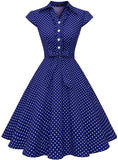 Wedtrend Women's 1950s Retro Rockabilly Dress Cap Sleeve Vintage Swing Dress