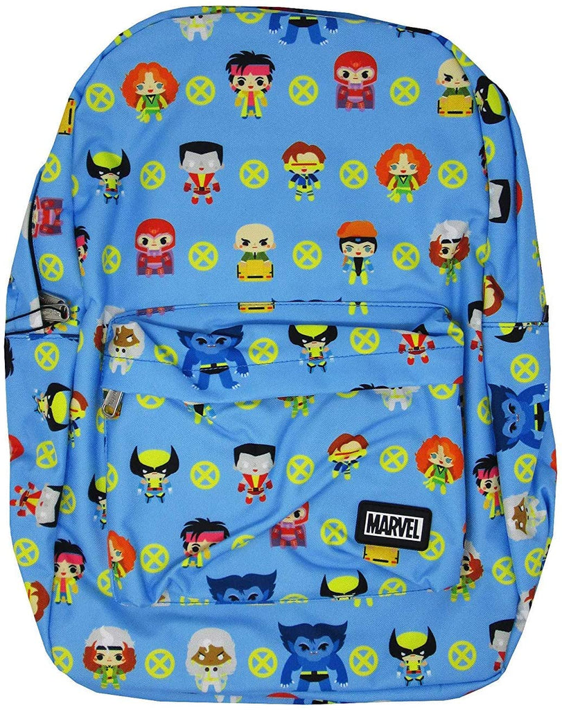 Marvel X-Men Chibi Character All-Over Print Nylon Backpack (Multi Adults and children 14+)