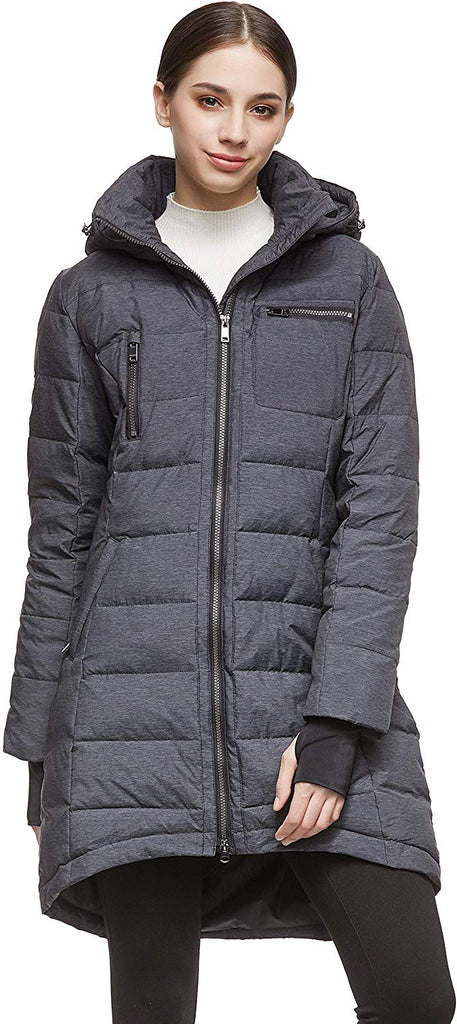 Women's Down Jacket Coat Winter Mid-Length
