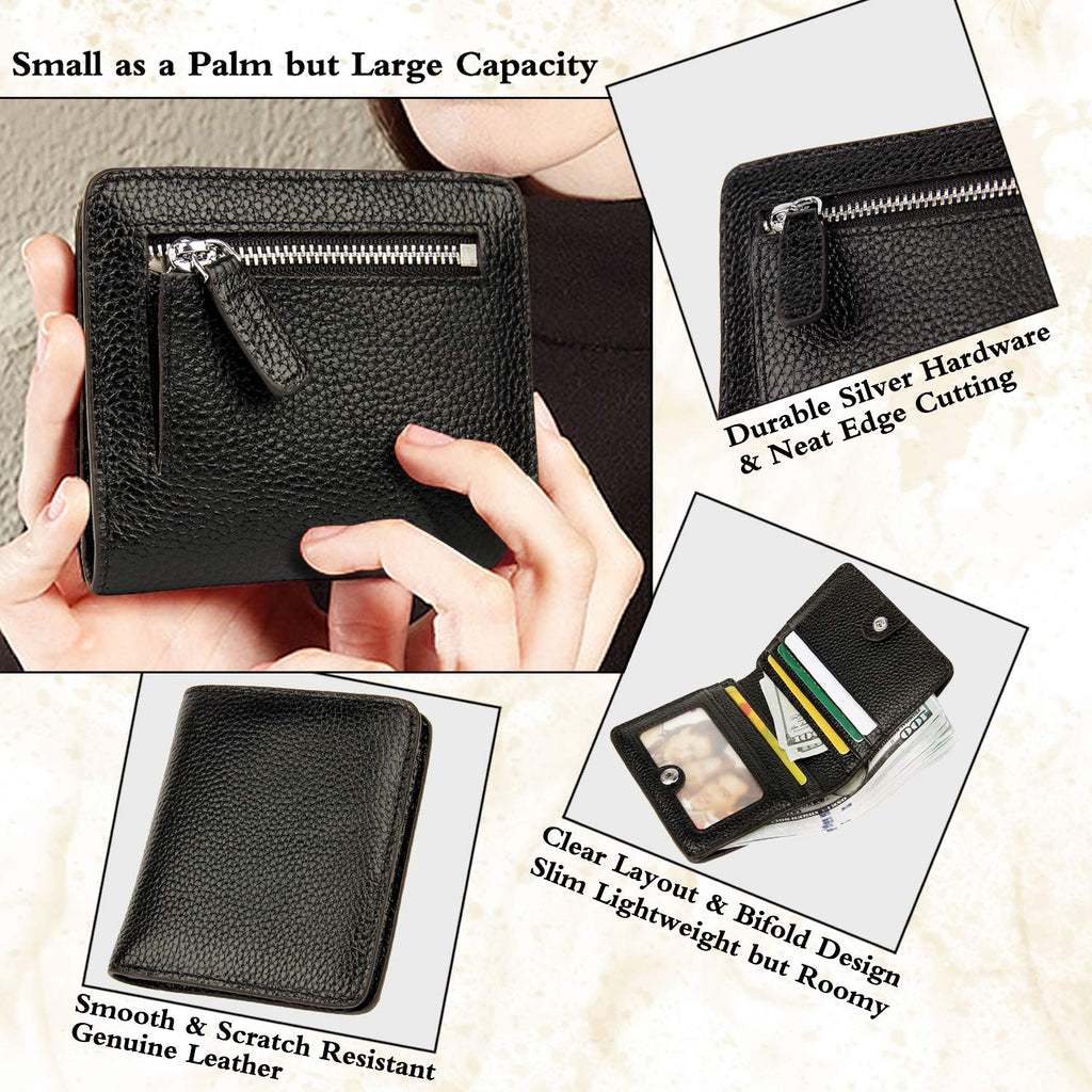 Small Leather Wallet for Women, Ladies Credit Card Holder RFID Blocking Women's Mini Bifold Pocket Purse
