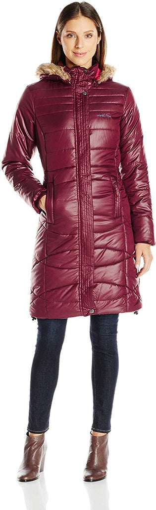 Women's Peacock Quilted Long Coat Jacket