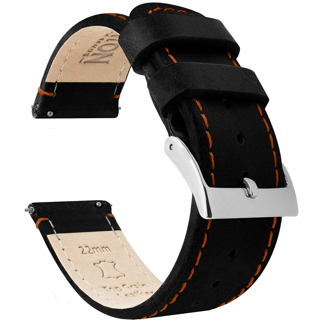 Watch Bands -Top Grain Leather - Leather Quick Release Watch Strap - Soft Leather Lining