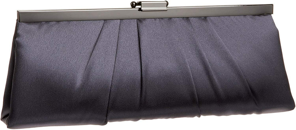 McClintock Blaire Womens Satin Frame Evening Clutch Bag Purse With Shoulder Chain Included