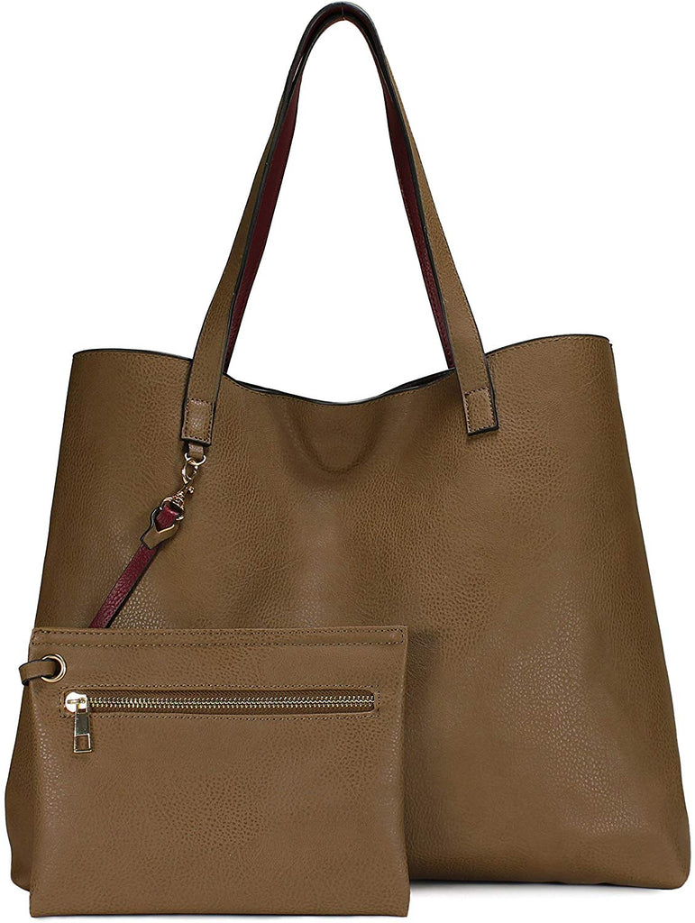 Stylish Reversible Tote Handbag for Women, Vegan Leather Shoulder Bag, Hobo bag, Satchel Purse