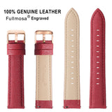 6 Colors for Quick Release Leather Watch Band, Fullmosa Cross Genuine Leather Replacement Wrist Strap