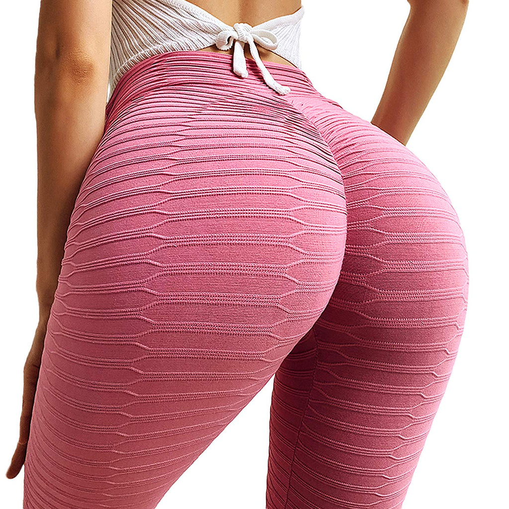 Women Ruched Butt Lift Yoga Pants Leggings High Waist Tummy Control Tights