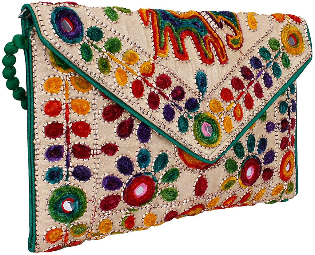 jaipuriart Sling Bag Foldover Clutch Purse