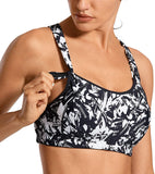 Sports Bra with Front Adjustable Lightly Padded Wirefree