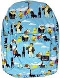 Up - All Over Print Characters Backpack Fits Laptop (Multi One Size)