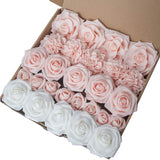 Breeze Talk Artificial Flowers Berry Pink Roses 25pcs Realistic Fake Roses w/Stem