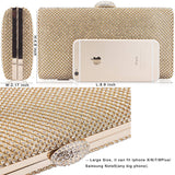 Large Rhinestone Crystal Clutch Evening Bag Women Clutch Purse for Cocktail Prom Party