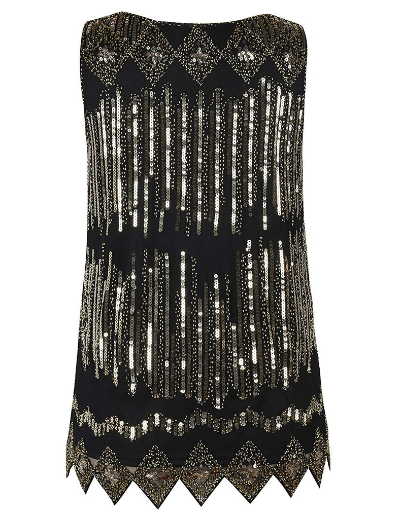 Women's Sequin Top Flowy Sparkly Cocktail Tank Party Dressy Tops
