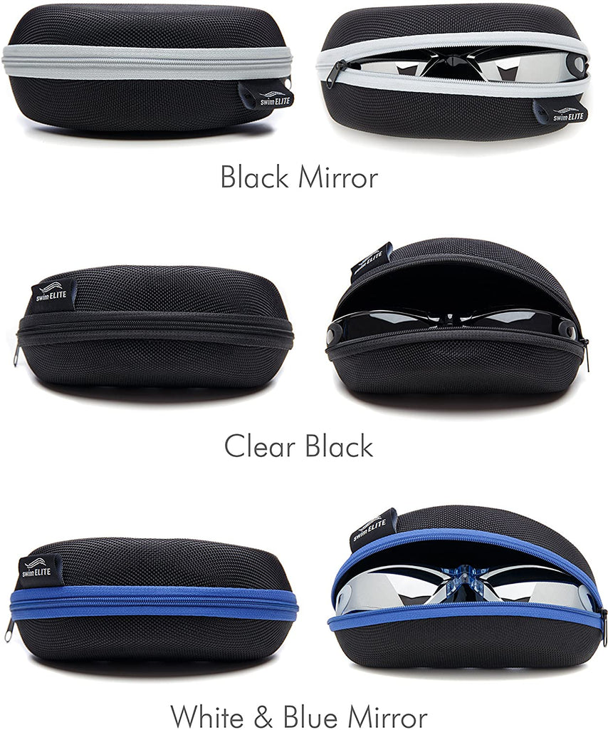 Swim Goggles + Reversible Swimming Cap + Protective Case • Exclusive Set