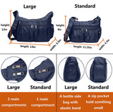 Bags for Women Multi Pocket Shoulder Bag Waterproof Nylon Travel Purses and Handbags Lightweight Work Bag