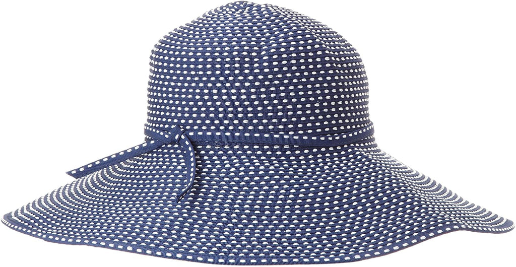 Hat Company Women's Ribbon Braid Hat With Five-Inch Brim