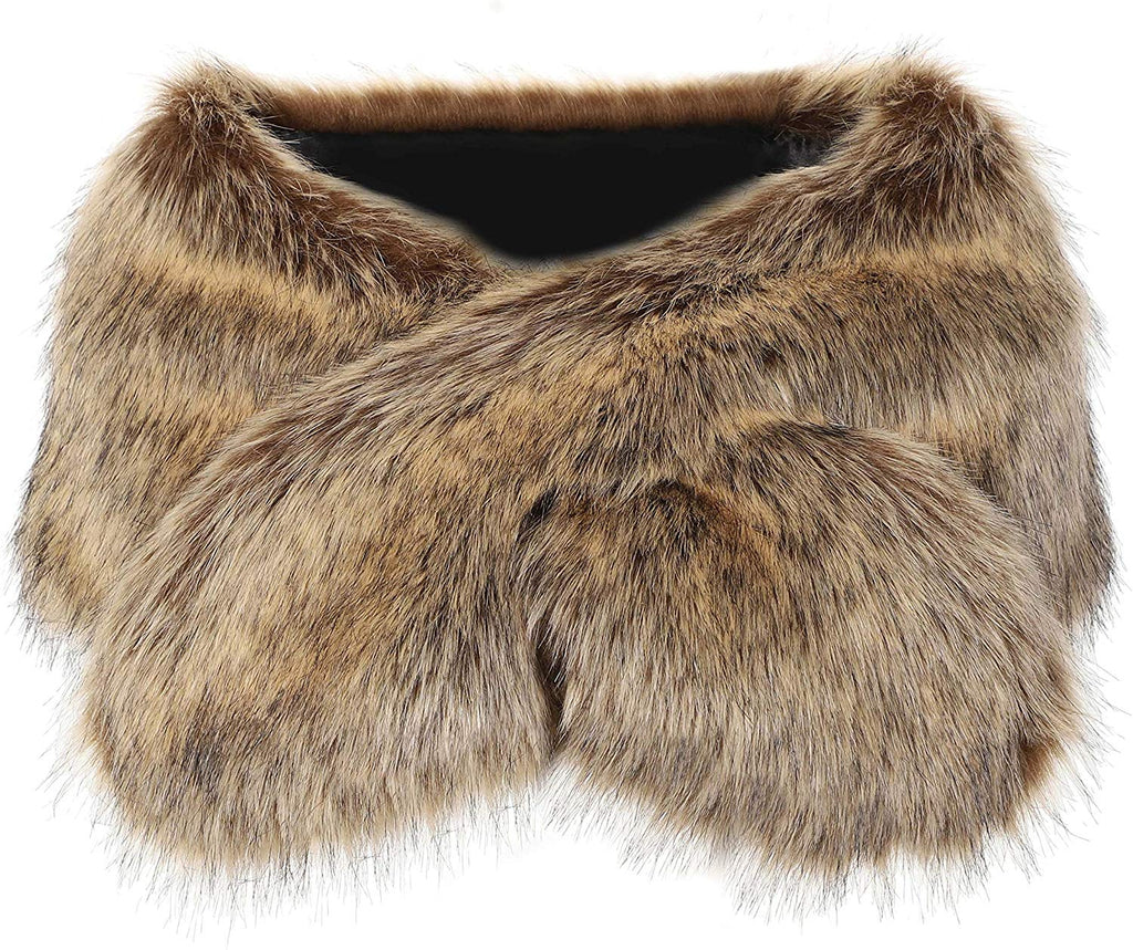 Faux Fur Collar Women's Neck Warmer Scarf Wrap