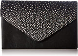 Ladies Large Evening Satin Bridal Diamante Ladies Clutch Bag Party Prom Envelope