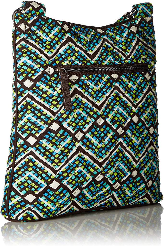Bradley Women's Signature Cotton Hipster Crossbody Purse Zipper closure