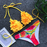 brazilian sexy thong bikini set swim wear women  bikinis mujer bathing suit biquini floral swimming suit for girls swimsuit