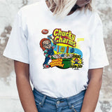 Japanese Chucky Horror Tshirt  High Quality Cool Women T Shirt Streetwear Ulzzang Tee Shirts T-shirt Fashion Female Femme Tops