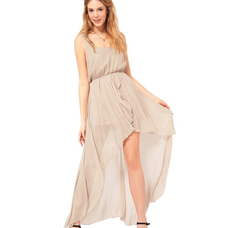 Bohemian Fairy Stylish Beach vestidos Casual Holiday Elastic waist Chiffon Women Dress