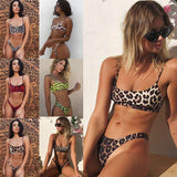 Bikini 2019 Swimsuit Bathing Suit Women Sexy Leopard Printed Wrapped Bikini Set Maillot De Bain Femme Biquini Swimwear monokini
