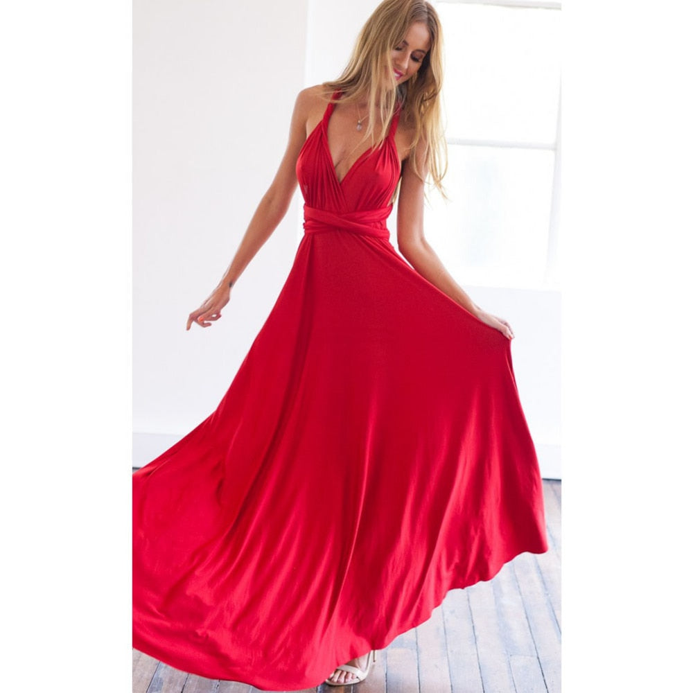 Sexy Multiway Wrap Convertible Boho Maxi Club  Dress Bandage Long Dress Party Bridesmaids Infinity Robe Longue Femme